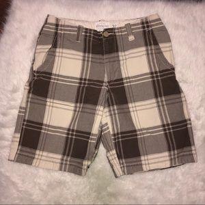 Aerpostale plaid flat front shorts 34